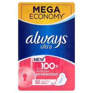 Always Ultra super plus hygienické vložky 32 ks ROSSMANN