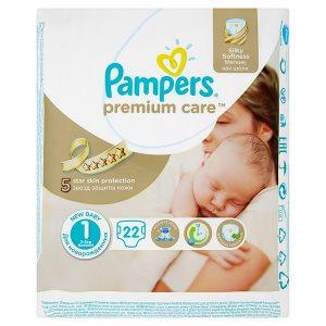 Pampers Premium Care dětské plenky 1 Newborn 22 ks ROSSMANN