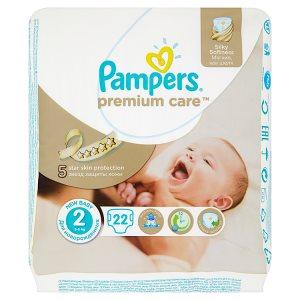 Pampers Premium Care dětské plenky 2 Mini 22ks v akci