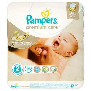 Pampers Premium care Dětské jednorázové plenky 2 New baby 96 ks