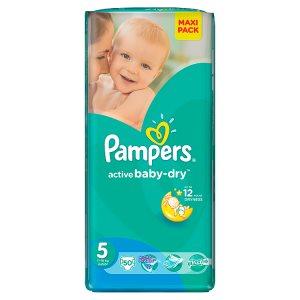 Pampers Active Baby-Dry Dětské jednorázové pleny 5 junior 50 ks Billa
