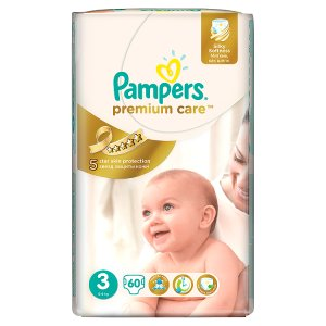 Pampers Premium Care Pleny 3 Midi 60 ks Tesco