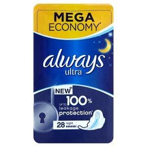 Always Ultra Night hygienické vložky 28 ks Teta drogerie