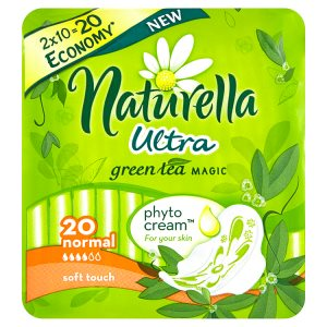 Naturella Green Tea Magic Ultra normal hygienické vložky s jemnou vůní 20 ks Tesco