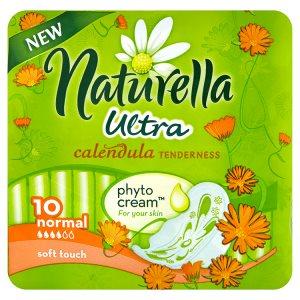 Naturella Calendula Tenderness ultra normal hygienické vložky s jemnou vůní 10 ks Flop