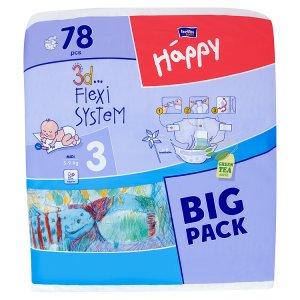 Bella Baby Happy 3 Midi jednorázové plenky 5-9 kg 78 ks