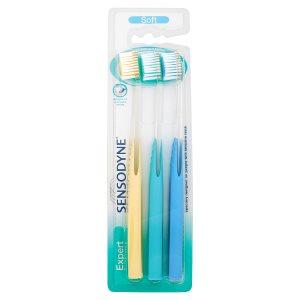 Sensodyne Expert soft zubní kartáček 3 ks Teta drogerie