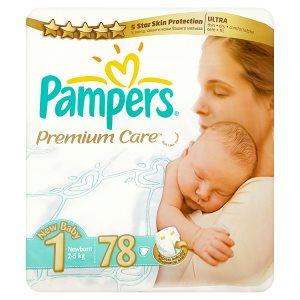 Pampers Premium Care Pleny 1 Newborn 78 ks Albert