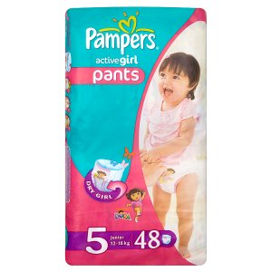 Pampers Active Girl Pleny 5 Junior 48 ks Billa