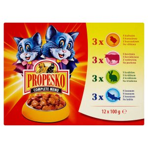 Propesko kapsička pro kočky 12 x 100g, vybrané druhy