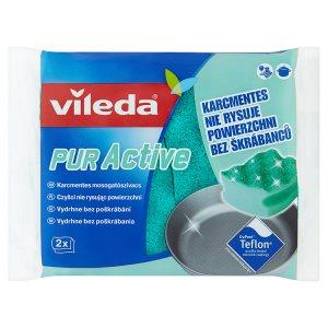 Vileda PUR active houbička střední 2 ks Prima Drogerie