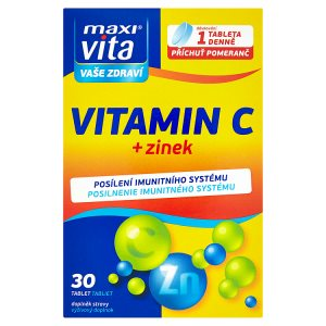 MaxiVita Vitamin C + zinek 30 tablet 22,8g Tesco