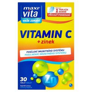 MaxiVita Vitamin C + zinek 30 tablet 22,8g
