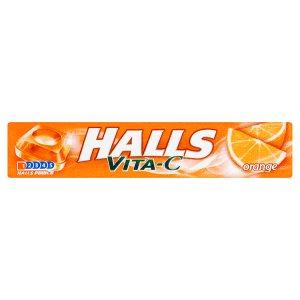 Halls Vita-C Dropsy s vitaminem C a pomerančovou příchutí 33,5g