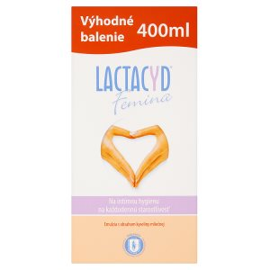 Lactacyd Femina Emulze pro intimní hygienu na každodenní péči s obsahem kyseliny mléčné 400ml Teta drogerie
