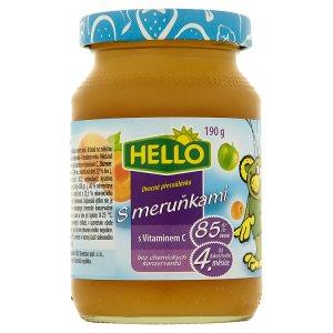 Hello Ovocná přesnídávka s vitaminem C 190g, vybrané druhy Albert