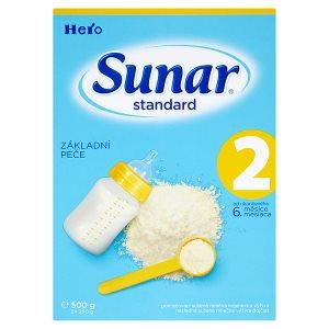 Sunar Standard 2 pokračovací sušená mléčná kojenecká výživa 2 x 250g Penny Market