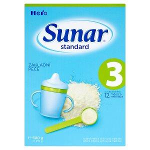 Sunar Standard 3 sušená mléčná výživa pro malé děti 2 x 250g