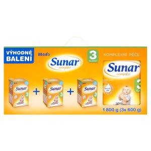 Sunar Complex 3 sušená mléčná výživa pro malé děti 3 x 600g ROSSMANN