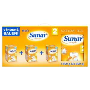 Sunar Complex 2 pokračovací sušená mléčná kojenecká výživa 3 x 600g ROSSMANN