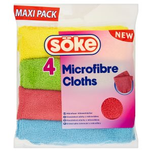 Söke Microfibre cloths víceúčelové utěrky z mikrovlákna 4 ks Šlak