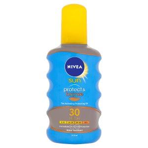 Nivea Sun Protect & Bronze Olej na opalování ve spreji podporující zhnědnutí OF 30 200ml Lidl