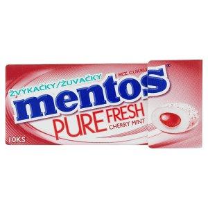 Mentos Pure fresh třešňovo-mentolové žvýkačky bez cukru 15g