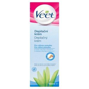 Veet Depilační krém pro citlivou pokožku s aloe vera & vitamínem E pro nohy a tělo 100ml Ráj drogerie