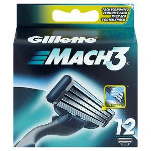 Gillette Mach3 Náhradní hlavice k holicímu strojku 12 ks Albert