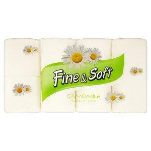 Fine&Soft Camomile toaletní papír s aroma heřmánku 8 rolí
