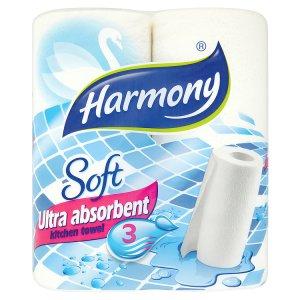 Harmony Soft ultra absorbent kuchyňské utěrky 3-vrst. 2 role JIP