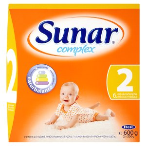 Sunar Complex 2 pokračovací sušená mléčná kojenecká výživa 2 x 300g ROSSMANN