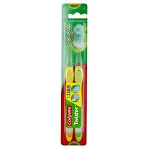 Colgate Twister Střední zubní kartáček 1+1 zdarma Tesco