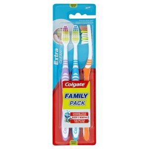 Colgate Extra Clean Zubní kartáček střední 3 ks Prima Drogerie