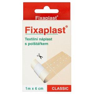 Fixaplast Classic textilní náplast s polštářkem 1m x 6cm Teta drogerie