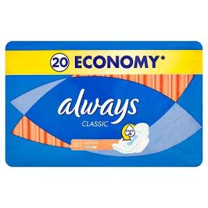 Always Classic Normal hygienické vložky 20 ks Albert