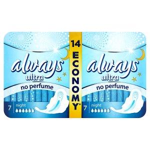 Always Ultra Night hygienické vložky 14 ks Penny Market