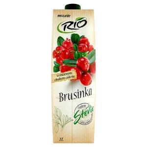 Rio Ovocný nápoj z brusinek a hroznů s cukrem a sladidlem 1l