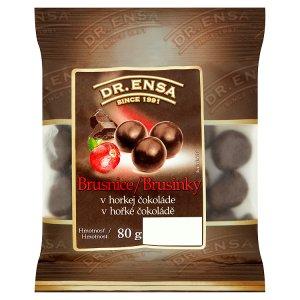 Dr. Ensa Brusinky v hořké čokoládě 80g