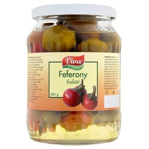 Viva Gourmet Feferony kulaté se stopkami 650g
