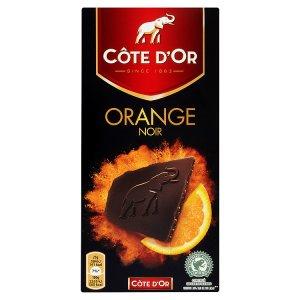 Côte d'Or Orange noir hořká čokoláda plněná čokoládovou náplní 100g