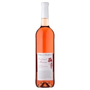 Víno Z Kobylí Cabernet Moravia jakostní víno odrůdové rosé suché 0,75l