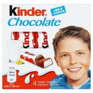 Kinder Chocolate tyčinky z mléčné čokolády s mléčnou náplní 50g