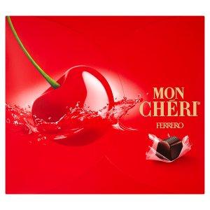 Mon Chéri Čokoládové bonbony formované s likérovou náplní a celou třešní 262,5g