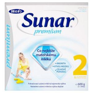 Sunar Premium 2 pokračovací sušená mléčná kojenecká výživa 2 x 300g Albert