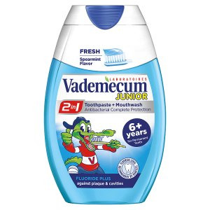 Vademecum 2v1 Junior Spearmint Zubní pasta 75ml Teta drogerie