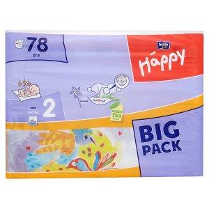 Bella Baby Happy 2 Mini jednorázové plenky 3-6kg 78 ks Tesco