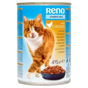 Reno Kompletní krmivo pro dospělé kočky - kousky s kuřecím v omáčce 415g