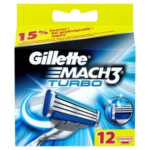 Gillette Mach3 Turbo náhradní hlavice k holicímu strojku 12 ks ROSSMANN