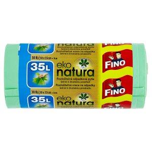 Fino Eko natura rozložitelné odpadkové pytle šetrné k životnímu prostředí 35l 30 ks Tesco